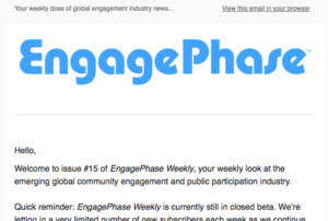 EngagePhase Weekly issue #15 screenshot